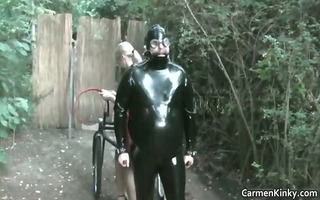 obscene carmen in hard-core sandm bdsm
