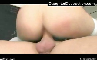 youthful daughter abased in her throat and pussy