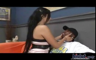 nasty brunette hair on a leash gets hammered by a