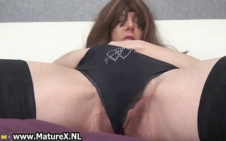 sexy older with can playing with her part4