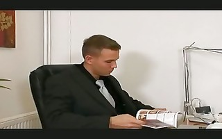 homosexual boss receives turned on by hot employee