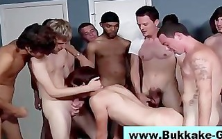 homosexual non-professional bukkake interracial