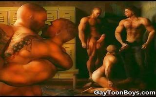 3d muscled gay boys!