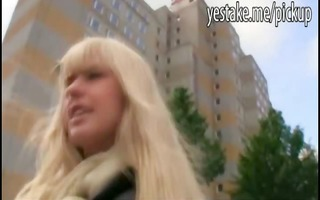 blonde angel gives a oral-sex and rides a large