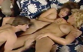 vintage three-some porn with breasty beauties
