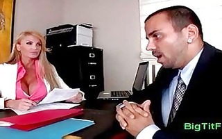 at the office with my mmf boss with biggest