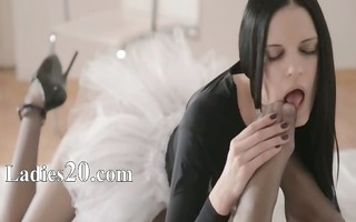 luxury women with strapon in hungry