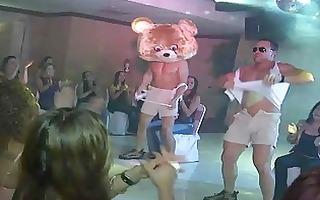 dancing bear at birthday party