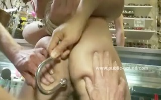 tied up fellow is blindfolded