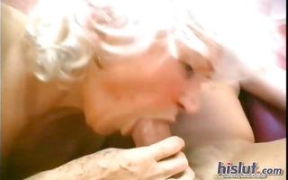 this aged slut loves shlong