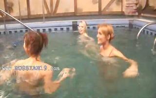 hungarian teenies in the pool