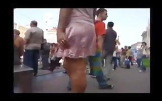 spy town cam upskirt pink dress