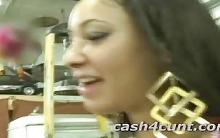 breasty cute amateur takes money for her slit to