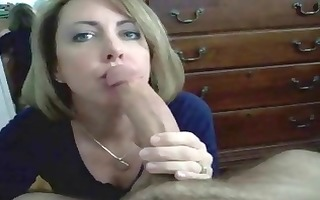 aged blond dilettante munches his pecker pov and