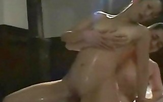 oily asian mother i massage sex with facial jizz