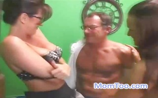 breasty mother i and daughter blow job the