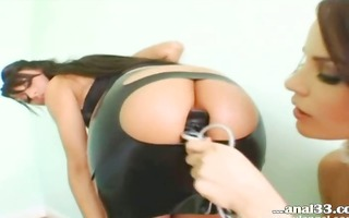 luxury rectal hole threesome in hot lingerie