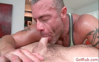 dude getting rimmed during massage part5