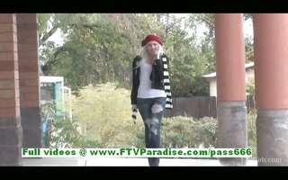 layden angelic blonde teen public flashing