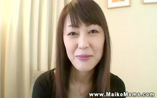 asian business lady lets boss rub her