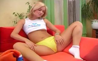 czech blond hotty fucking a sex tool