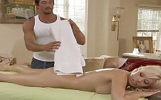 delightful blonde angelina ash acquires massaged