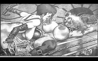 massive rope bound breast sadomasochism
