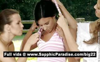 glamorous brunette hair lesbos fingering and