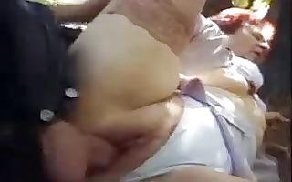 rita - granny outdoor fuck by snahbrandy