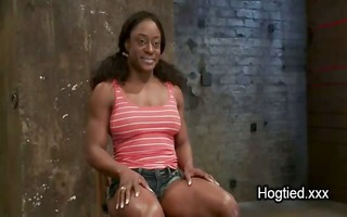 breasty darksome fitness enthusiast lady acquires