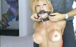 wicked blond receives ball gagged and has her