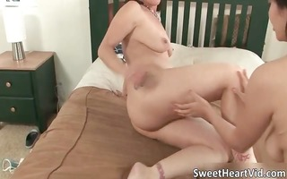 awesome brunette hoe receives her tight