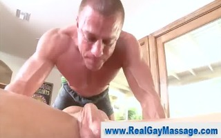 str chap mouth drilled by hunky homo masseuse