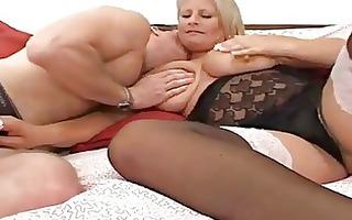 big beautiful woman lady anal in nylons
