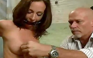 bdsm brunette unfathomable anal drilled and