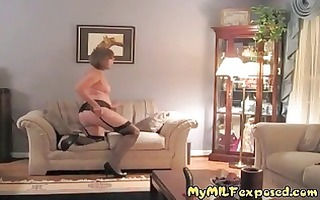 mature milf stripped - retro nylons granny toy