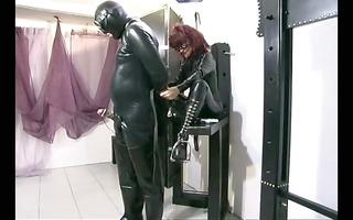 redhead dominatrix-bitch satisfying her needs