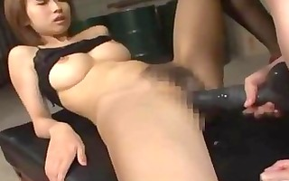busty girl screwed with sex-toy fisted on the