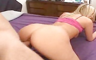 blond chick sucks shlong and gets fucked in