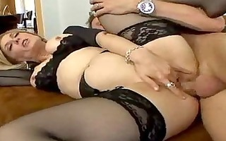 stocking clad d like to fuck can spreading her