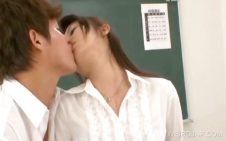 school teacher acquires asian mounds licked
