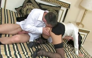 nice-looking euro fetish slut receives drilled