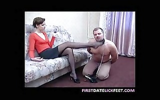 russian foot domination take up with the tongue