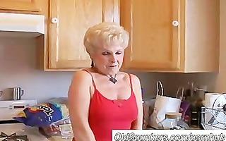very hot grandma has a soaking moist cunt