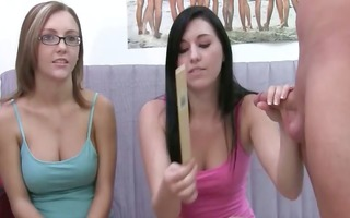 juvenile girls with glasses engulfing dick