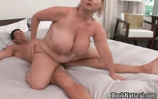 lascivious golden-haired big boobed milf bitch