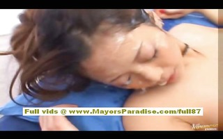 miho maeshima asian doll receives face overspread