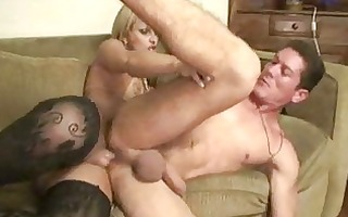 latino hunk dumps his cum on t-girl large soaked
