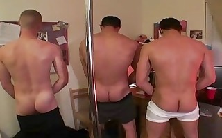 three constricted butt homosexual males having