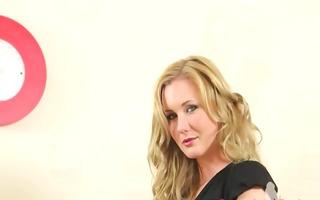 hot secretary teasing and posing